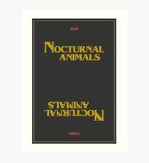 nocturnal animals Art Print
