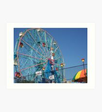 Astroland @ Coney Island, NY Ferris Wheel Art Print