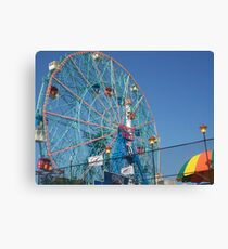 Astroland @ Coney Island, NY Ferris Wheel Canvas Print