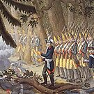 Prussian King leads his troops at Torgau, 1760 by edsimoneit