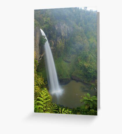 Bridal Veil falls, Waikato, New Zealand Greeting Card