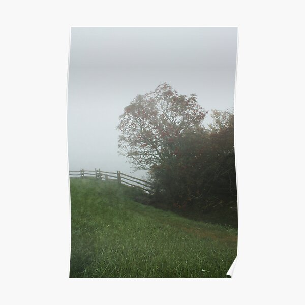 Misty Morning on the Blue Ridge Parkway Poster