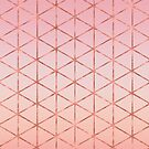 Rose Gold Triangle Pattern by blueskywhimsy
