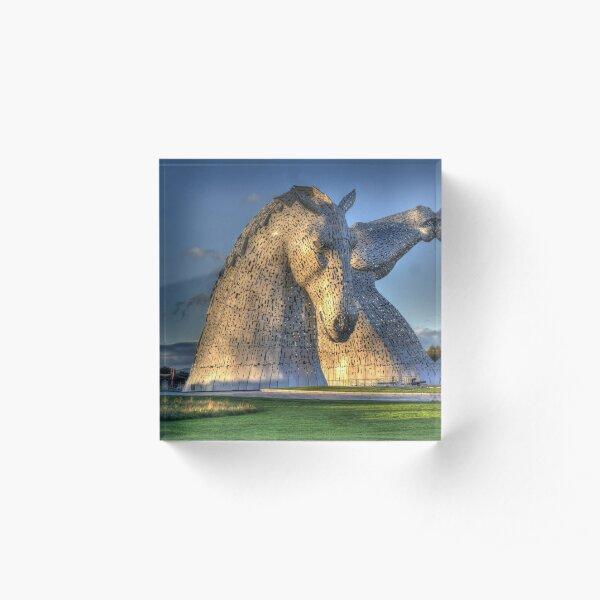 The Kelpies, Helix Park , Falkirk Acrylic Block