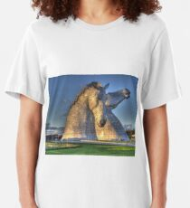 The Kelpies, Helix Park , Falkirk Slim Fit T-Shirt