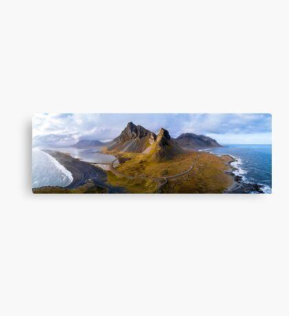 Eystrahorn Aerial Panorama - Iceland Canvas Print