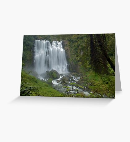 Marokopa falls, Waikato, New Zealand Greeting Card