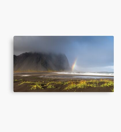 Rainbow in Vestrahorn - Iceland Canvas Print