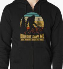 Bigfoot Camping Hiking Saw Me But Nobody Believes Him T-shirt Zipped Hoodie