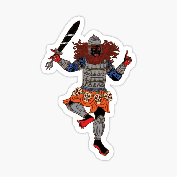 Humakt God of Death and War by Kalin Kadiev Sticker