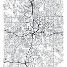 Vector poster map city Atlanta by maximgertsen
