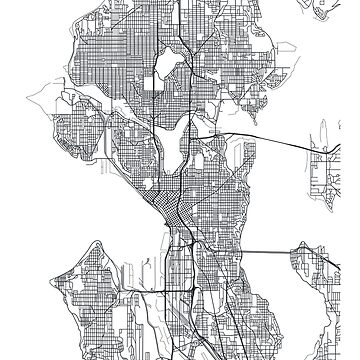Vector poster map city Seattle by maximgertsen