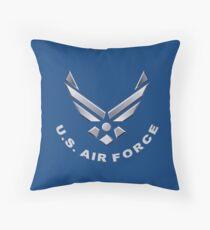 U.  S. Air Force Symbol for Dark Colors Throw Pillow