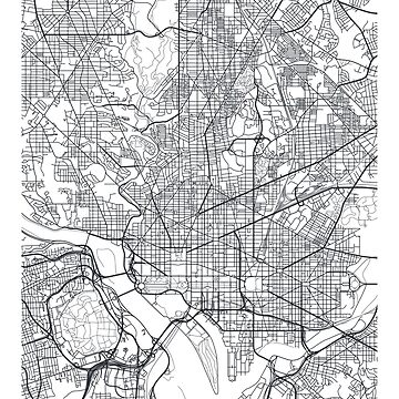Vector poster map city Washington by maximgertsen