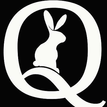 Qanon Follow the White Rabbit Red Pilled by Qanon by JenniferMac