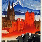 German tourism advertisement..Vintage 1930s by edsimoneit