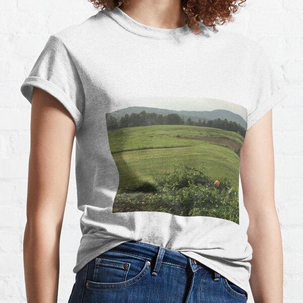 Orange Pumpkin With Mountains  Classic T-Shirt