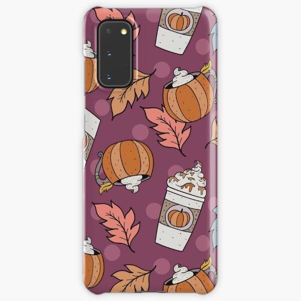 Pumpkin Spice Latte Purple Fall Autumn Coffee Lover PSL Samsung Galaxy Snap Case