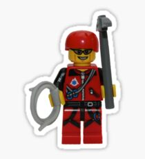 LEGO Climber with Ice Axe and Rope Sticker