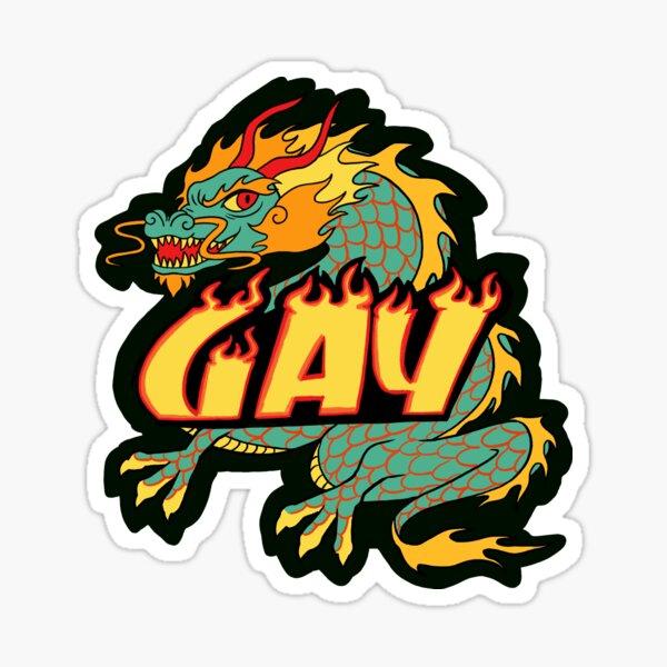 GAY Dragon Sticker