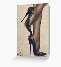 Nylons & Heels, by James Patrick Greeting Card