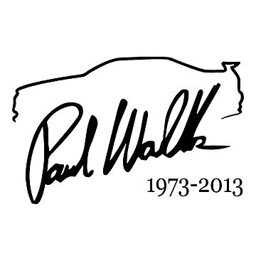 Paul Walker signature car outline by thatstickerguy