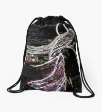 White Stallion Drawstring Bag