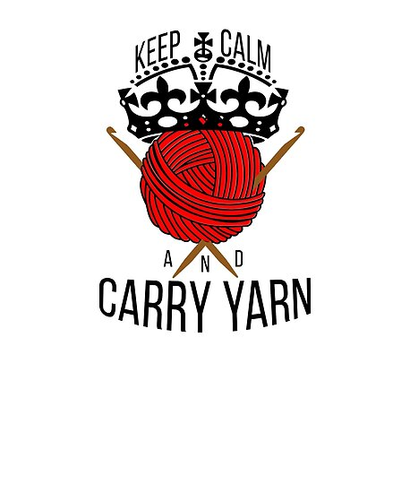 Mom Knitting Shirt Funny Knitter Gift Carry Yarn by jacko89