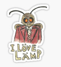 Meme Moth - I Love Lamp!  Sticker