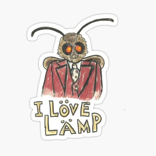 Meme Moth - I Love Lamp!  Sticker