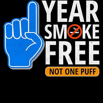 One Year Smoke Free Anniversary Foam Finger Art by pbng80