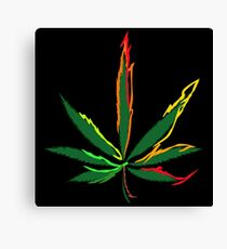 Crazy Marijuana Leaves Canvas Print