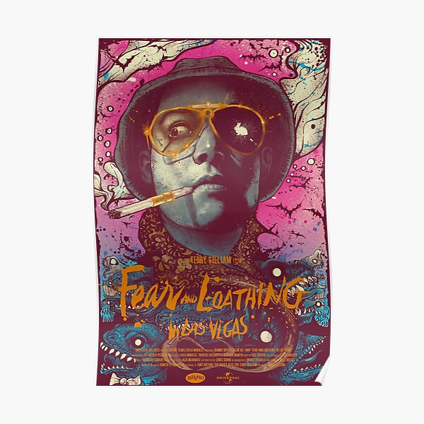 abstract fear and loathing  Poster