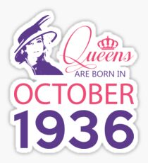 It's My Birthday 82. Made In October 1936. 1936 Gift Ideas. Sticker