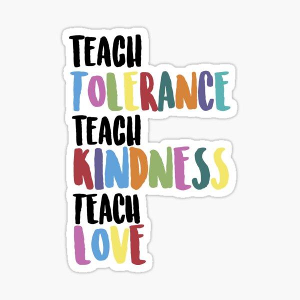 Teach Love Sticker