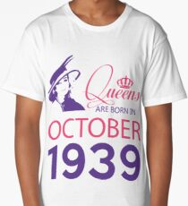 It's My Birthday 79. Made In October 1939. 1939 Gift Ideas. Long T-Shirt