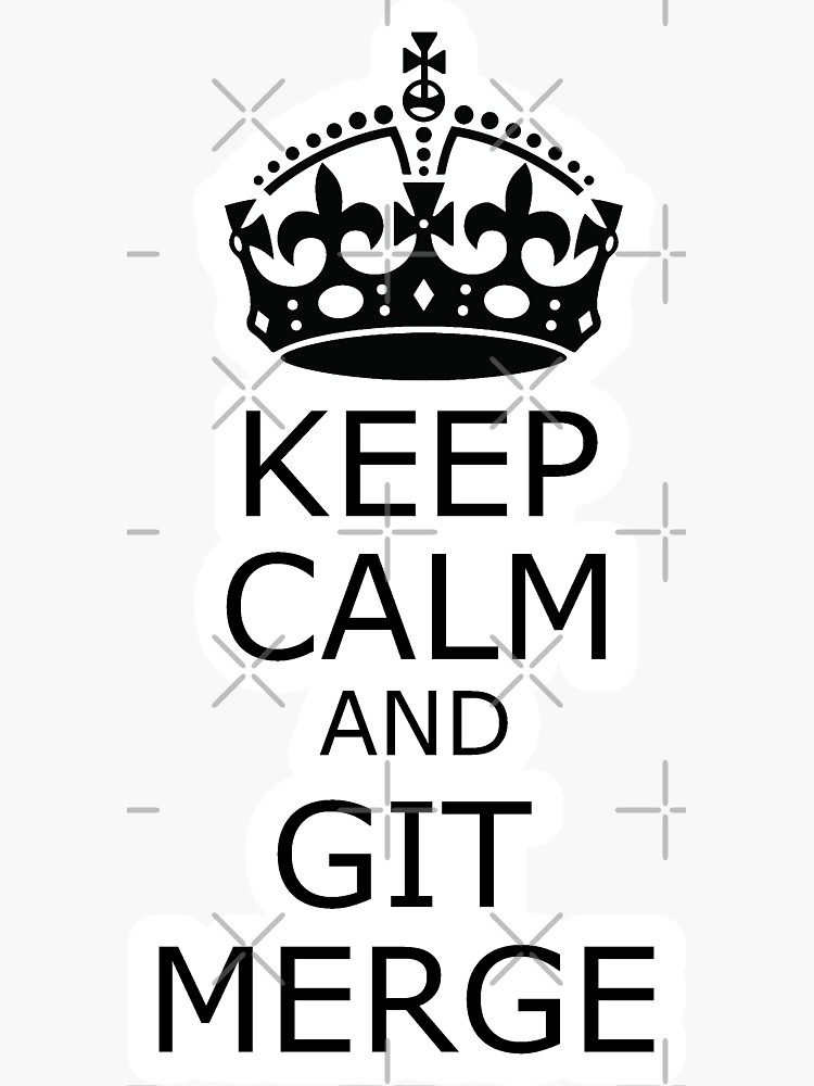 keep calm and git merge de yourgeekside