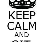 «keep calm and git merge» de yourgeekside