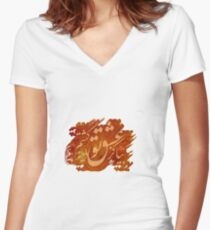 Bia Kaz Eshghe To... Fitted V-Neck T-Shirt
