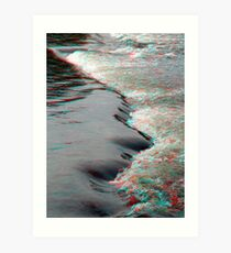 Rapidly 3D (by the Rideau River) Art Print