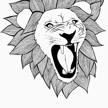 Screaming lion by Meagz