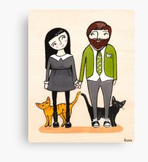 Father's Day with Fur Babies Canvas Print