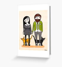 Father's Day with Fur Babies Greeting Card