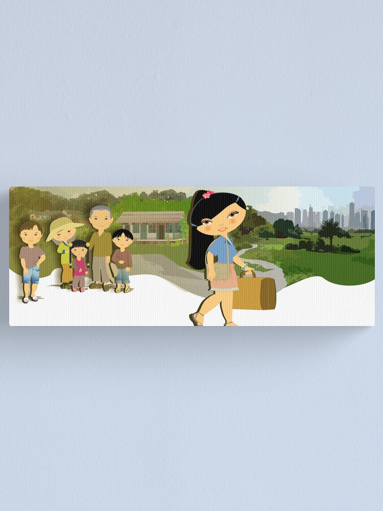 Alternate view of TropoGirl - Chinese country girl - Leaving home Canvas Print