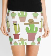 Cactus with Hats! Hactus? Mini Skirt