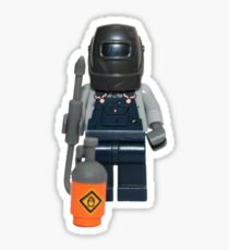 LEGO Welder with his mask on! Sticker