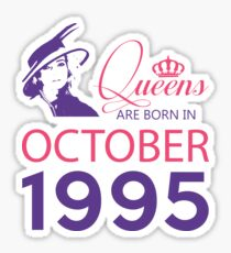 It's My Birthday 23. Made In October 1995. 1995 Gift Ideas. Sticker
