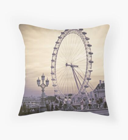 Moody London Eye Throw Pillow