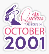 It's My Birthday 17. Made In October 2001. 2001 Gift Ideas. Sticker