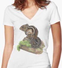 Chipmunk Fitted V-Neck T-Shirt